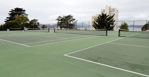 GEORGE STERLING PARK ALICE MARBLE TENNIS CT
