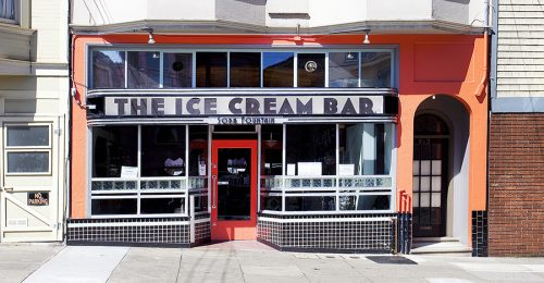 ice cream bar street view